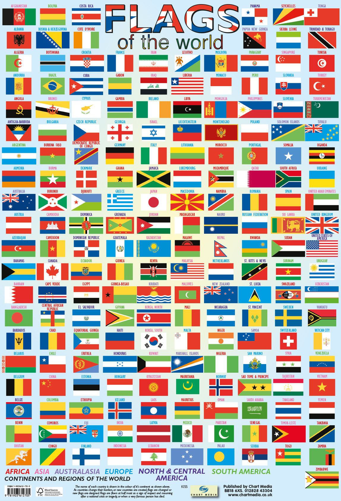 Poster Flags of the World 40 x 60cm